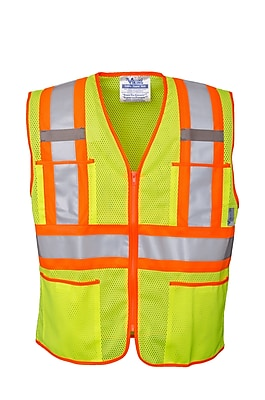 Open Road Zipper Safety Vest Green (U6112G-2XL)