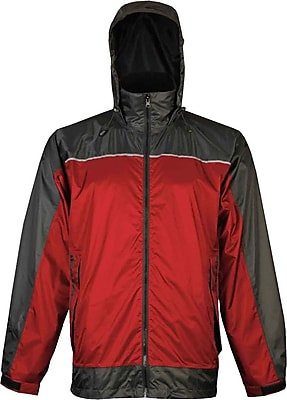 Viking Windigo Lightweight Waterproof Jacket Charcoal Red (910CR-XL)