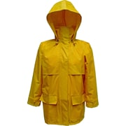 Open Road 150D Ripstop Polyester Jacket With Attached Hood Yellow (2910JY-S)