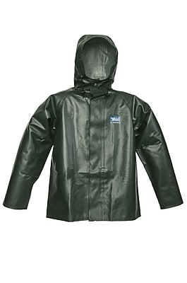Viking Journeyman 0.45 mm PVC Hooded Jacket Green (4125J-XL)