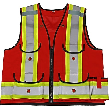 Viking Professional All Trades 1000D Surveyor Safety Vest Red (4915R-S)