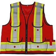 Viking Professional All Trades 1000D Surveyor Safety Vest Red (4915R-XXL)