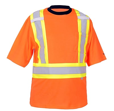 Viking Safety Cotton Lined T-shirt Orange (6000O-XXXL)