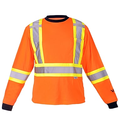 Viking Safety Cotton Lined Long Sleeve Shirt Orange (6015O-S)