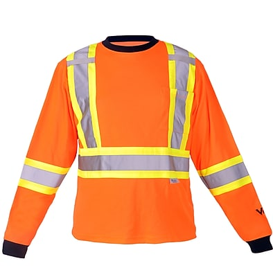 Viking Safety Cotton Lined Long Sleeve Shirt Orange (6015O-XXXXL)