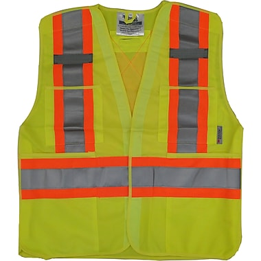Viking 5pt. Tear Away Safety Vest Polyester Green (U6135G-S/M)