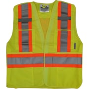 Viking 5pt. Tear Away Safety Vest Polyester Green (U6135G-L/XL)