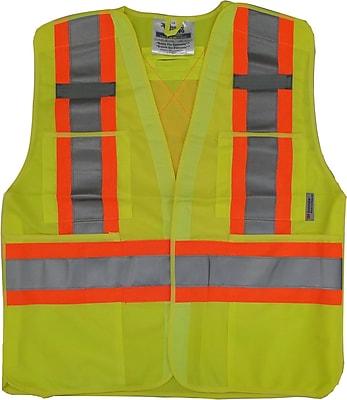 Viking 5pt. Tear Away Safety Vest Polyester Green (U6135G-4XL/5XL)