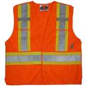 Viking 5pt. Tear Away Safety Vest Polyester Orange (U6135O-L/XL)