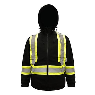 Viking Safety Fleece Hoodie Jacket Black (6420BK-XL)