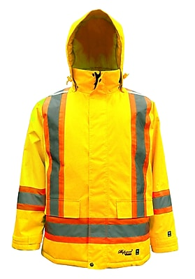 Viking Professional Freezer Trilobal Ripstop Safety Jacket Green (6450JG-XL)