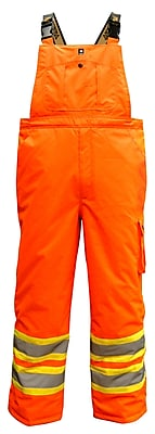 Viking Professional Freezer Trilobal Ripstop Safety Bib Pants Orange (6450PO-XL)