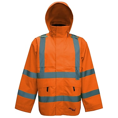 Viking Professional Journeyman Trilobal Ripstop Safety Jacket Orange (D6329JO-XXXL)