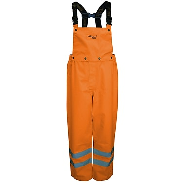 Viking Professional Journeyman Trilobal Ripstop Safety Bib Pants Orange (D6329PO-M)