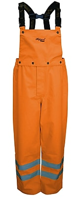 Viking Professional Journeyman Trilobal Ripstop Safety Bib Pants Orange (D6329PO-L)