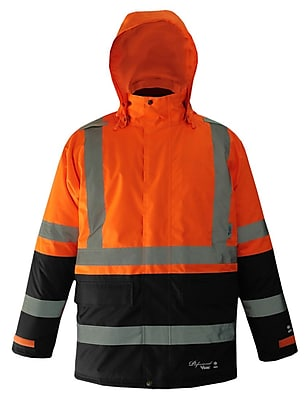 Viking Professional Freezer Trilobal Ripstop 2-tone Safety Jacket Orange (D6455JO-XXXXL)