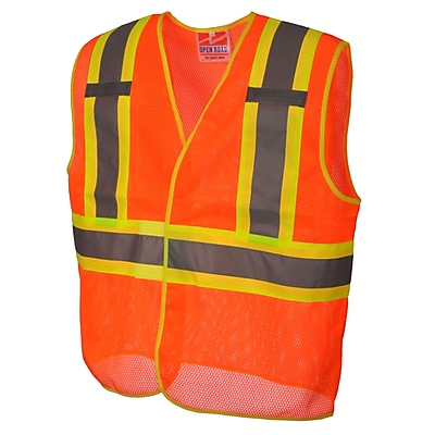 Open Road BTE Safety Vest Orange (U6110O-L/XL)