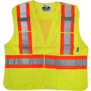 Viking 5pt. Tear Away Safety Vest Mesh Green (U6125G-2XL/3XL)