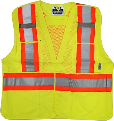 Viking 5pt. Tear Away Safety Vest Mesh Green (U6125G-S/M)