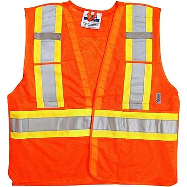 Viking 5pt. Tear Away Safety Vest Mesh Orange (U6125O-L/XL)