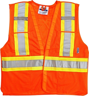 Viking 5pt. Tear Away Safety Vest Mesh Orange (U6125O-2XL/3XL)