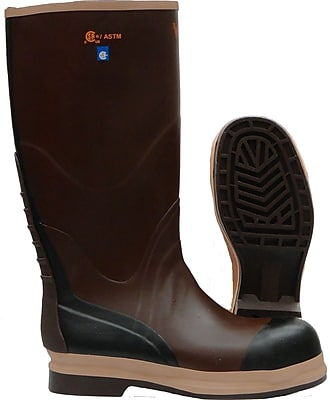 Viking Neoprene Insualted NBR Rubber Safety Boot, ASTM F2413-11 Steel Toe, Steel Plate, Brown (VW22-13)