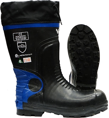 Viking Ultimate Construction Safety Boot, ASTM F2413-11 Steel Toe, Steel Plate, NBR Rubber, Blue and Black (VW88-14)