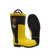 Viking Firefighter Felt Lined NFPA 1971-2013, ASTM F2413-11 Steel Toe, Steel Plate, Chainsaw Protection, NBR Rubber,Yellow/ Blk