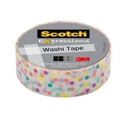 Scotch® Expressions Washi Tape, 15 mm x 10 m, Fun Dots