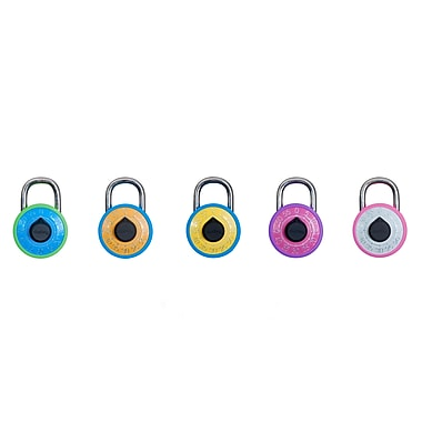 Dudley 3-Digit Combination Lock, Assorted Colours