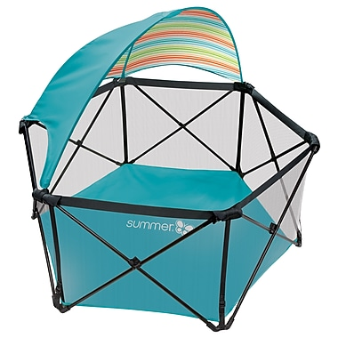 Summer Infant Pop'N Play with Canopy, Aqua