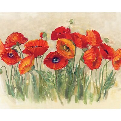 Magic Slice 12'' x 15'' Vibrant Poppies Design Cutting Board
