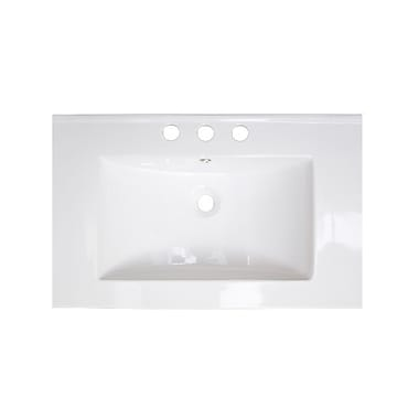 American Imaginations 24'' Single Bathroom Vanity Top; Chrome