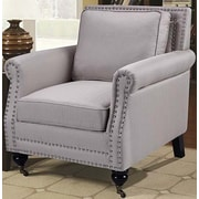 BestMasterFurniture Fabric Armchair; Taupe