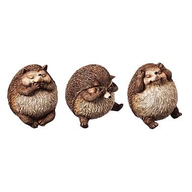 Evergreen Enterprises, Inc Acorn Alley 3 Piece Hedgehog Hear Speak See No Evil Statue Set