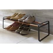 Yamazaki USA Plain 8 Pair Shoe Rack; Black