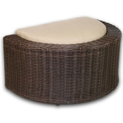 Patio Heaven Palomar Ottoman w/ Cushion; Eggshell