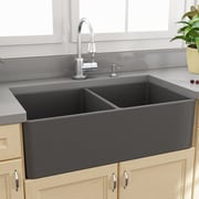 Nantucket Sinks Cape 33.25'' x 18'' Double Basin Farmhouse/Apron Kitchen Sink
