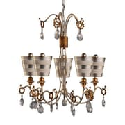 Flambeau Lighting Tivoli 5 Light Crystal Chandelier; Silver by