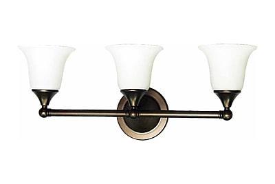 Aurora Lighting A19 Bath Vanity Lamp, Florence Bronze(STL-VME713631)