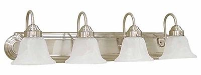 Aurora Lighting A19 Bath Vanity Lamp, Brushed Nickel(STL-VME013441)