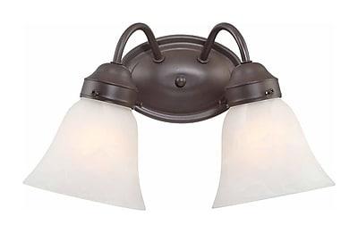 Aurora Lighting A19 Bath Vanity Lamp, Antique Bronze(STL-VME915721)