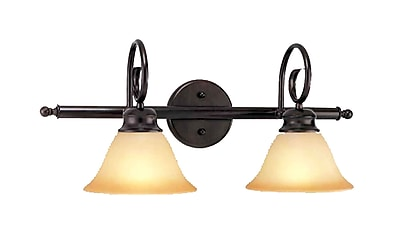 Aurora Lighting A19 Bath Vanity Lamp, Antique Bronze(STL-VME915325)
