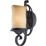 Aurora Lighting A19 Bath Vanity Lamp, Antique Iron(STL-VME345818)