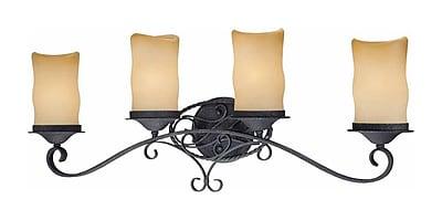 Aurora Lighting A19 Bath Vanity Lamp, Antique Iron(STL-VME345849)