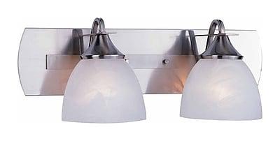 Aurora Lighting A19 Bath Vanity Lamp, Brushed Nickel(STL-VME048429)