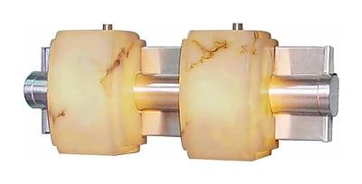 Aurora Lighting A19 Bath Vanity Lamp, Brushed Nickel(STL-VME013922)