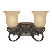 Aurora Lighting A19 Bath Vanity Lamp, Vintage Bronze and Antique Gold(STL-VME222928)
