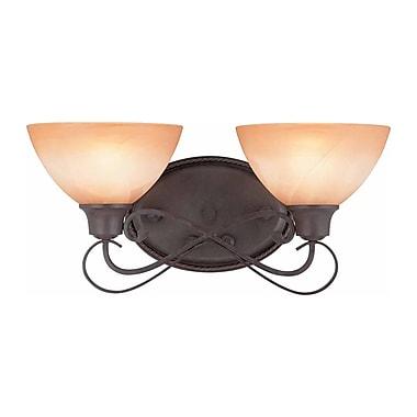 Aurora Lighting A19 Bath Vanity Lamp, Frontier Iron(STL-VME326626)