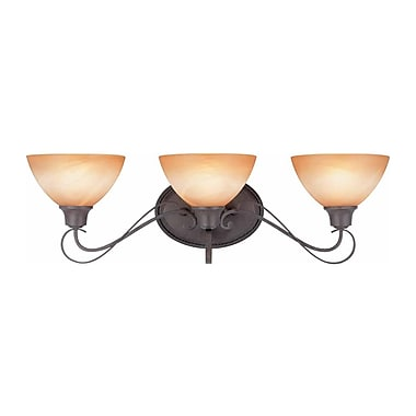 Aurora Lighting A19 Bath Vanity Lamp, Frontier Iron(STL-VME326633)